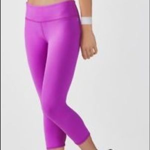 2 Pairs of Fabletics Salar Capri in Magenta & Blue